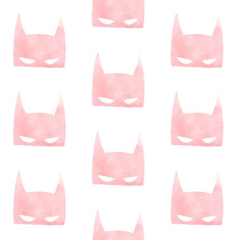 Blush Bat Mask fabric by hipkiddesigns on Spoonflower - custom fabric