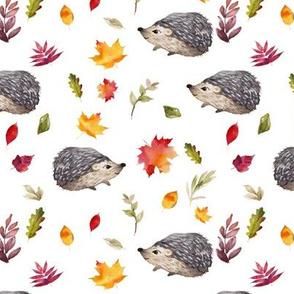 """6"""" Fall Leafy Hedgehog"""