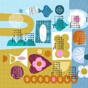 2019 Shapes of Things tea towel calendar