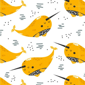 Happy Little Yellow Narwhals