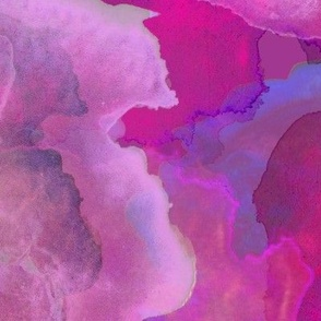 Abstract Painterly Fuchsia , abstract pink , purple watercolor