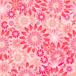 Summer Dahlias on pink
