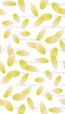 Summer Dahlias - petals on white coordinate