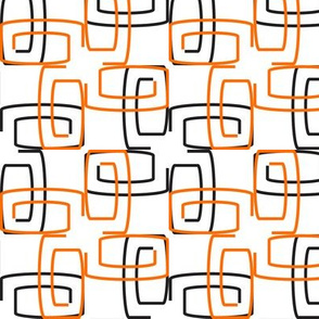 Orange and Black Mod Paperclips