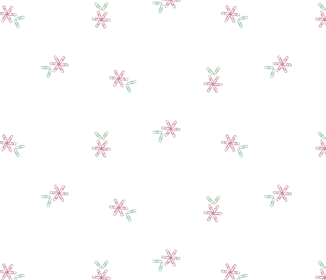 Red paperclip flowers fabric by vivaeris_designs on Spoonflower - custom fabric