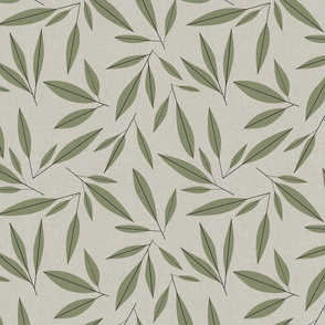 mid century modern olive leaves