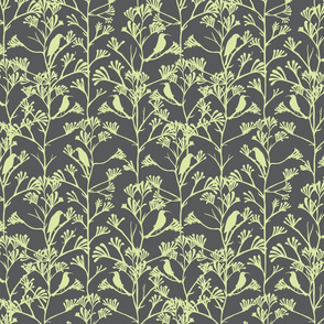 Midday feast mint green on grey
