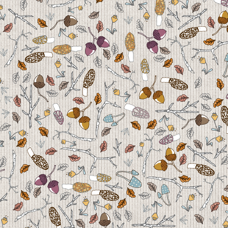 Forest Floor (SML) fabric by nouveau_bohemian on Spoonflower - custom fabric