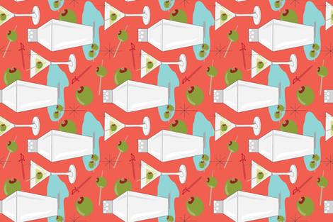 Martini Bar fabric by cathleenbronsky on Spoonflower - custom fabric