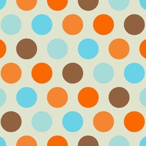 Retro Goldfish - Vintage Circle Dot Pattern