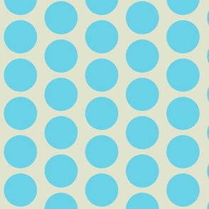 Retro Goldfish - Vintage Robin Eggs Blue Dots