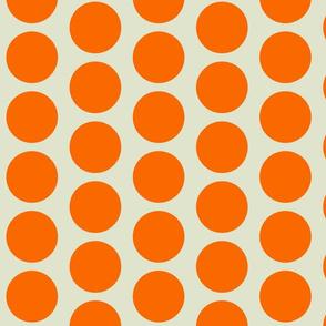 Retro Goldfish - Burnt Orange Dots