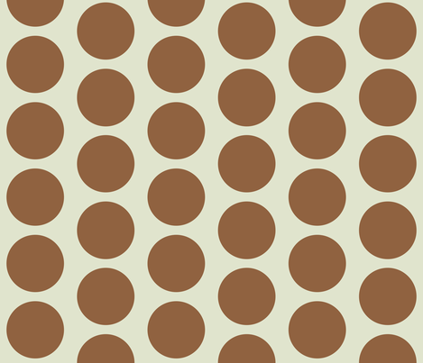 Retro Goldfish - Brown Circles fabric by silveroakdesign on Spoonflower - custom fabric