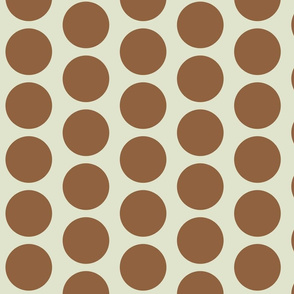Retro Goldfish - Brown Circles
