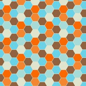Retro Goldfish - Hexagon Pattern