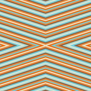 Retro Goldfish - Diagonal Stripes