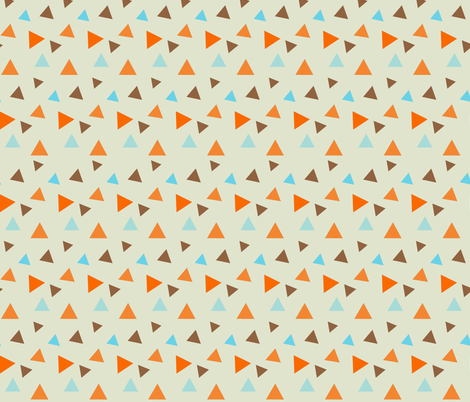 Retro Goldfish - Random Triangle Patterns fabric by silveroakdesign on Spoonflower - custom fabric