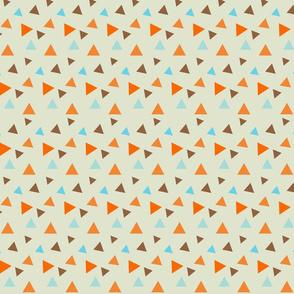 Retro Goldfish - Random Triangle Patterns