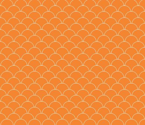 Retro Goldfish - Tangerine Orange Scale fabric by silveroakdesign on Spoonflower - custom fabric
