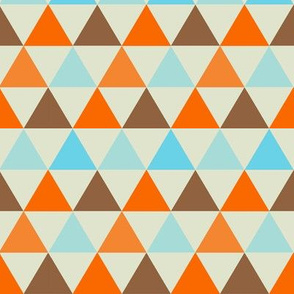 Retro Goldfish -  Triangle Pattern