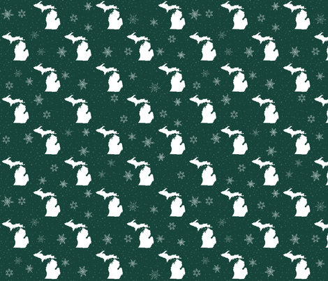 Snowing In Michigan fabric by bags29 on Spoonflower - custom fabric