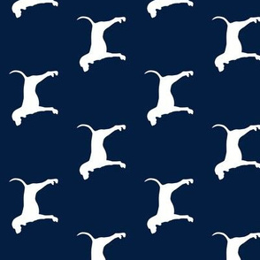 coonhound on navy || dog fabric (90) C18BS