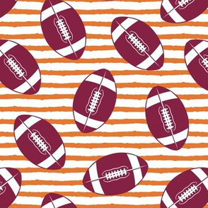 college football - maroon on orange stripes