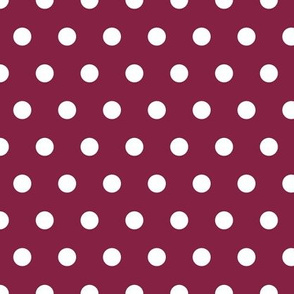polka dots - maroon