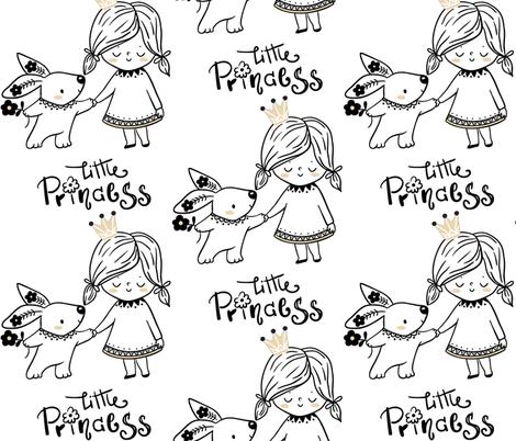 Little Princess fabric by floramoon on Spoonflower - custom fabric
