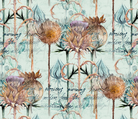 Glorious Morning fabric by floramoon on Spoonflower - custom fabric