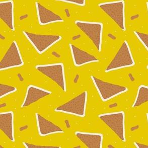 Peanut butter sandwich bread cool food pop design mustard yellow gender neutral