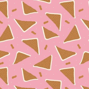 Peanut butter sandwich bread cool food pop design mustard pink girls