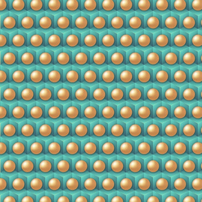 Ocean Pearls on Cubes Turquoise
