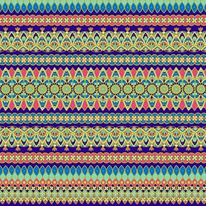 Ornamental stripes - cloisonne palette