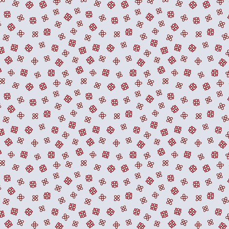 Ditsy floral in wine red, red and gray fabric by simut on Spoonflower - custom fabric
