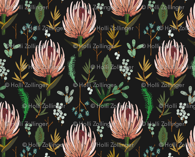 FLORAL STUDY DARK WALL HANGING