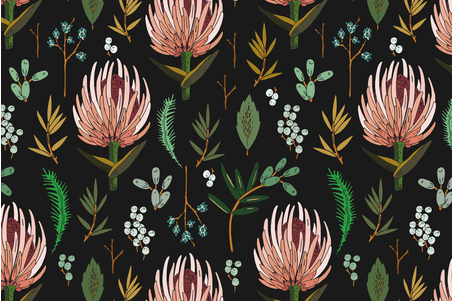 FLORAL STUDY DARK WALL HANGING fabric by holli_zollinger on Spoonflower - custom fabric