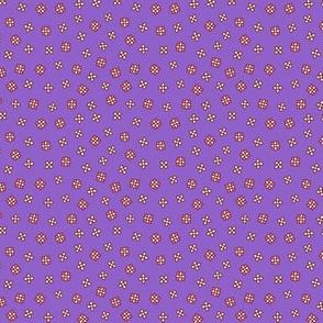 Scattered floral on a violet background