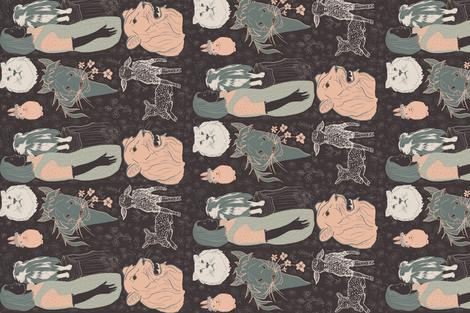 And a Child shall Lead them fabric by salzanos on Spoonflower - custom fabric