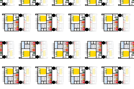Mondrian Bar Cart fabric by anneostroff on Spoonflower - custom fabric
