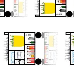 Mondrian Bar Cart