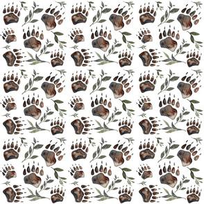 bear paw repeat spoonflower