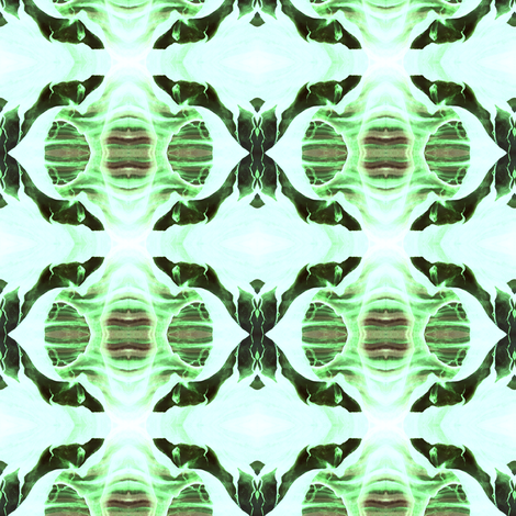 La Llorona in Green - Brown, Inner Space fabric by maryyx on Spoonflower - custom fabric