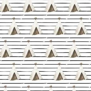 """4"""" Desert Teepee // Black Stripes"""