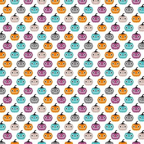 Cute geometric pumpkin love kawaii halloween design blue orange purple girls SMALL