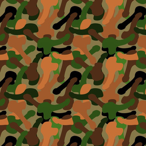 camouflage penis forest
