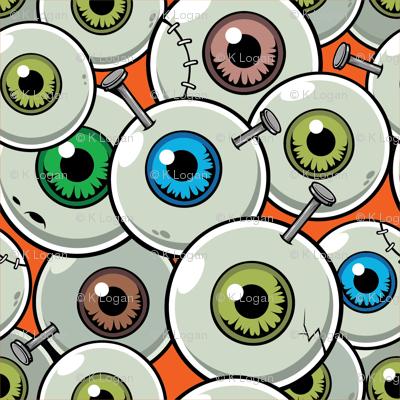 Halloween Eyeballs Orange-01
