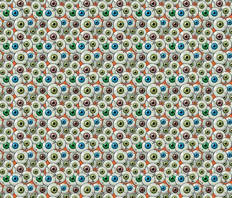 Halloween Eyeballs Orange-01 fabric by khaus on Spoonflower - custom fabric