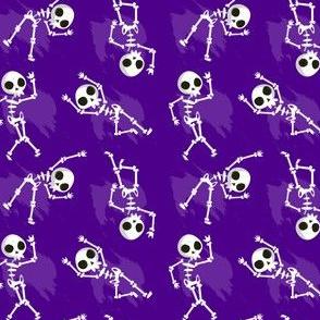 Halloween Skeletons Dancing Purple