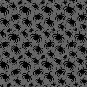 Halloween Spiders Grey Kids Halloween Cute
